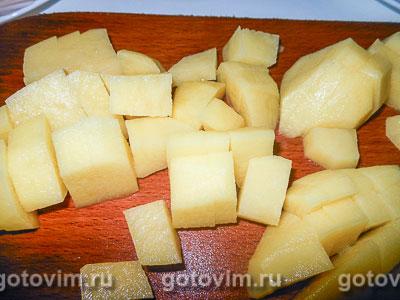 Лодочки из слоеного теста с картофельным пюре и мясом, Шаг 01