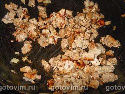 Лодочки из слоеного теста с картофельным пюре и мясом, Шаг 06