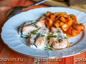 Малосольный лосось с луком за 40 минут – кулинарный рецепт