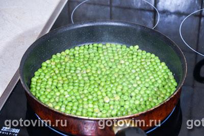 Фотографии рецепта Макароны с зеленым горошком и йогуртом, Шаг 01