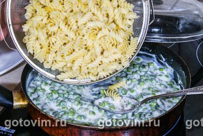 Фотографии рецепта Макароны с зеленым горошком и йогуртом, Шаг 05