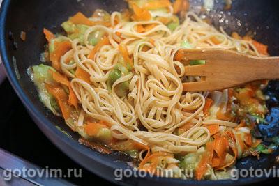 Макароны с овощами (с овощной лапшой), Шаг 06