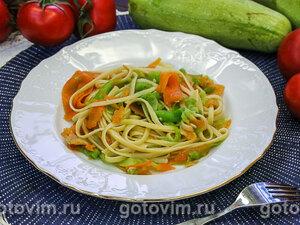Макароны с овощами (с овощной лапшой)