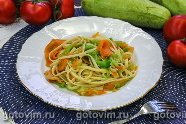 рецепт макарон полоски с тушенкой