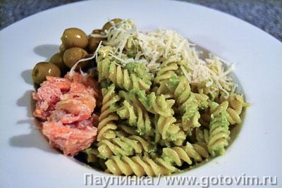 Фотография рецепта Макароны с соусом из авокадо