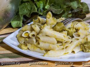 Макароны с пастой из оливок