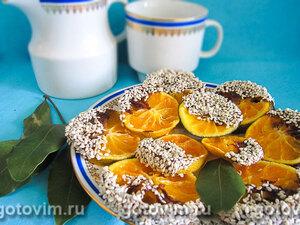 Мандариновые цукаты в шоколадной глазури с кунжутом