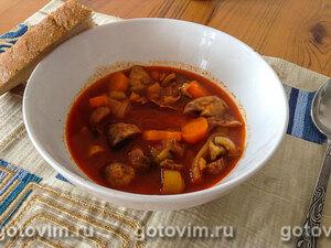 Манджа - тушеные куриные желудочки в мультиварке по-болгарски