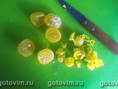 Манник с творогом, мармеладом и шоколадной крошкой, Шаг 04