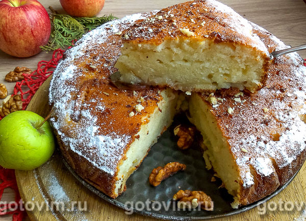 Рецепты манника с яблоками