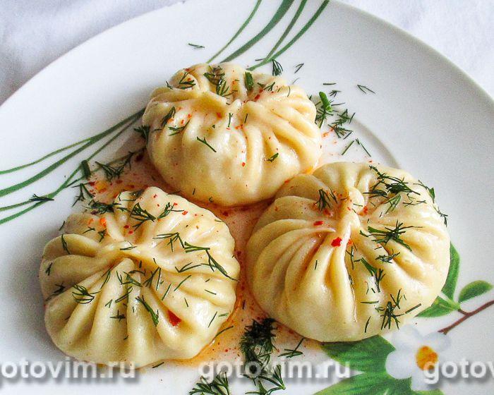 манты из картошки и салом рецепт