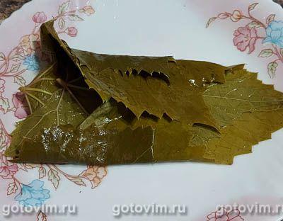 Маринованные виноградные листья на зиму, Шаг 03