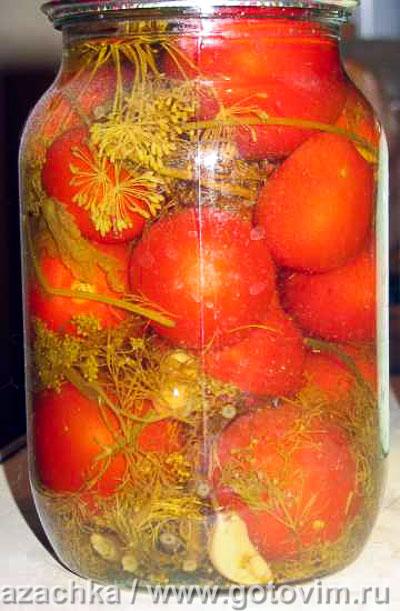 Фотография рецепта Маринованные помидоры
