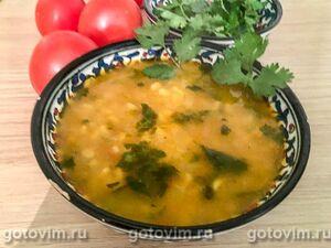 Марокканский суп с перловкой