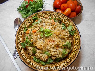 Машкичири (каша из маша и риса с мясом по-узбекски). Фотография рецепта