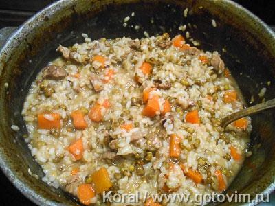 Машкичири (каша из маша и риса с мясом по-узбекски), Шаг 06