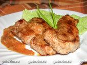 Мясо с острым соусом из ананаса