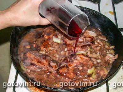 Свинина запеченная в красном вине рецепт