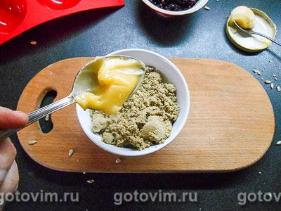 Домашняя халва с медом и клюквой, Шаг 03