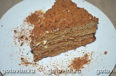 Торт медовик шоколадный. Фотография рецепта