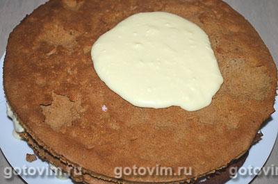 Торт медовик шоколадный, Шаг 06