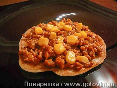 Мексиканская закуска для текилы  (блинчики с мясом), Шаг 06