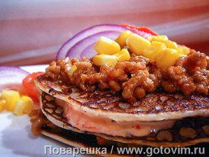 Мексиканская закуска для текилы  (блинчики с мясом)