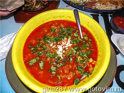 Менудо (мексиканская похлебка с рубцом, маисом и чили). Фото-рецепт