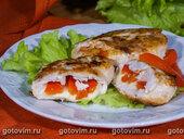 Конвертики из курицы с моцареллой и сладким перцем