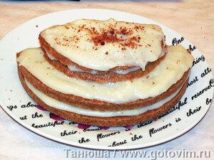 Торт из медового бисквита с заварным кремом (для микроволновки)