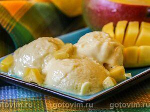 Мороженое из манго со сгущенным молоком и лаймом