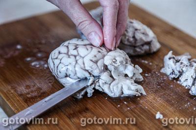 Закуска из телячьих мозгов в сухарях, Шаг 03
