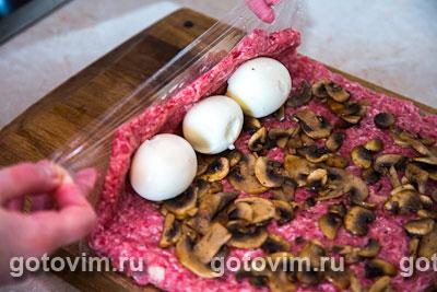 мясной рулет с яйцом в духовке рецепт с фото