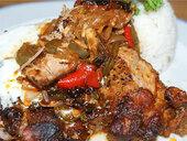 Мясо по-венгерски со сладким перцем и чили