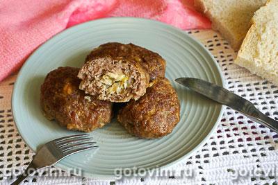 Фотография рецепта Мясные зразы с яйцом и луком