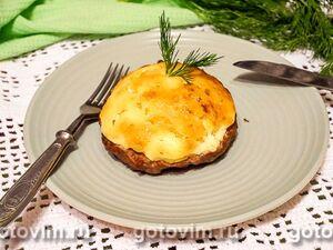 Мясные ватрушки с грибами и картофелем