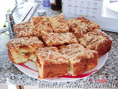 Пирог наливной с сыром. Фото-рецепт