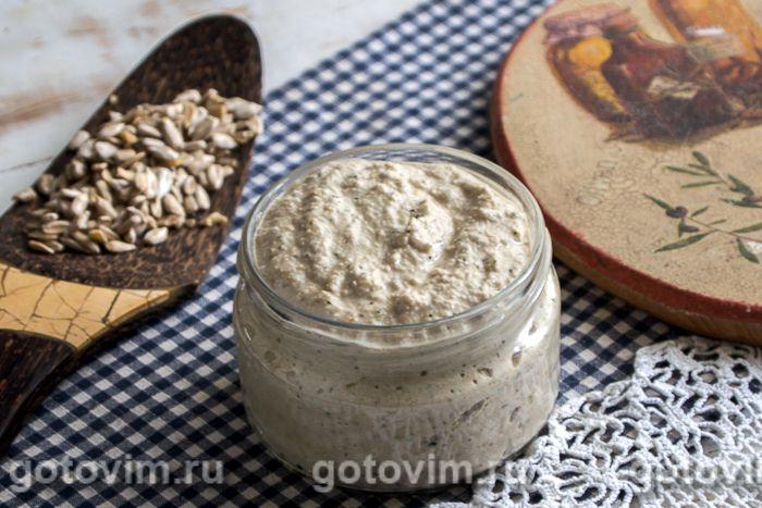 Паста для бутербродов из семечек. Фотография рецепта