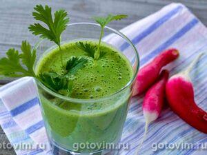 Коктейль из кефира с зеленью