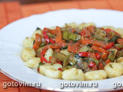 Ньокки с овощами. Фотография рецепта