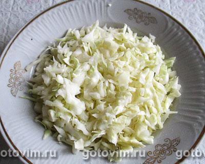 Оладьи на кефире с капустой и зелёным луком, Шаг 01