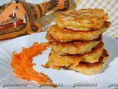 Постные морковные оладьи