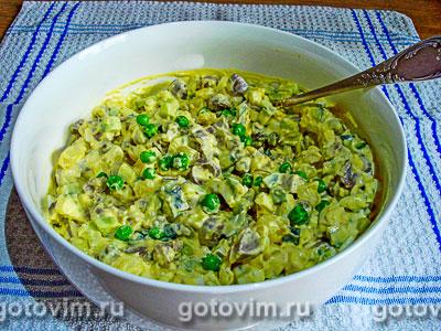 Салат «Оливье» из куриных сердечек и молодых овощей, Шаг 05
