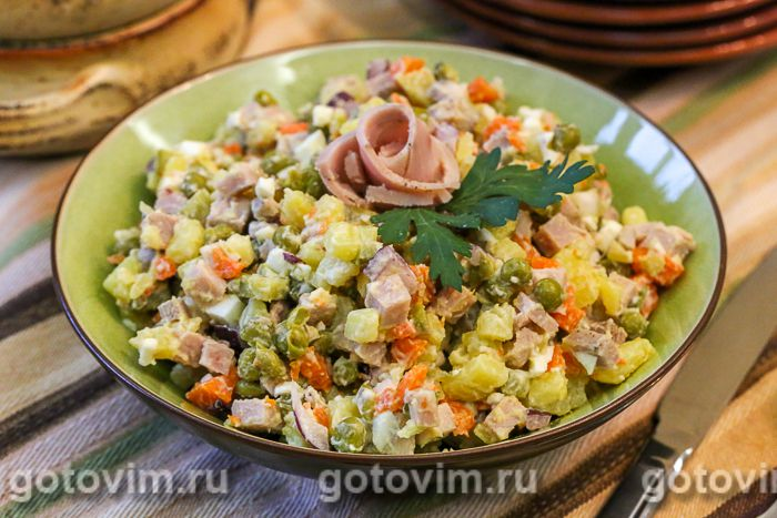 Рецепт оливье на кг
