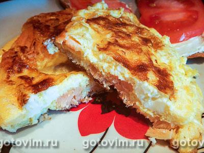 Омлет с красной рыбой. Фотография рецепта