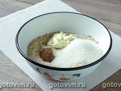 Рулет с орехами из пасхального теста - рецепт пошаговый с фото