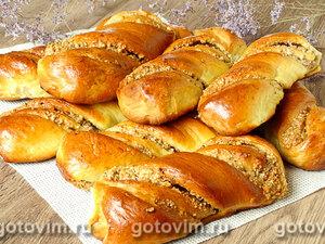 Ореховые вертуны (сдобные рулетики с ореховой начинкой)