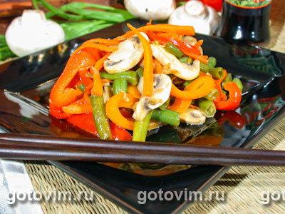 Овощи по-китайски. Фото-рецепт
