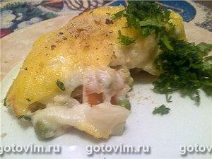 Овощи в соусе бешамель под сырной корочкой