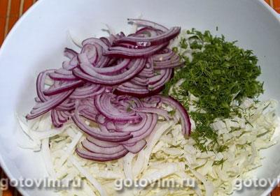Овощной салат с сухариками, Шаг 01